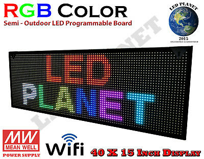 40x15-rgb Display Semi Outdoor Indoor Wifi Led Scrolling Sign Super Fast Ship