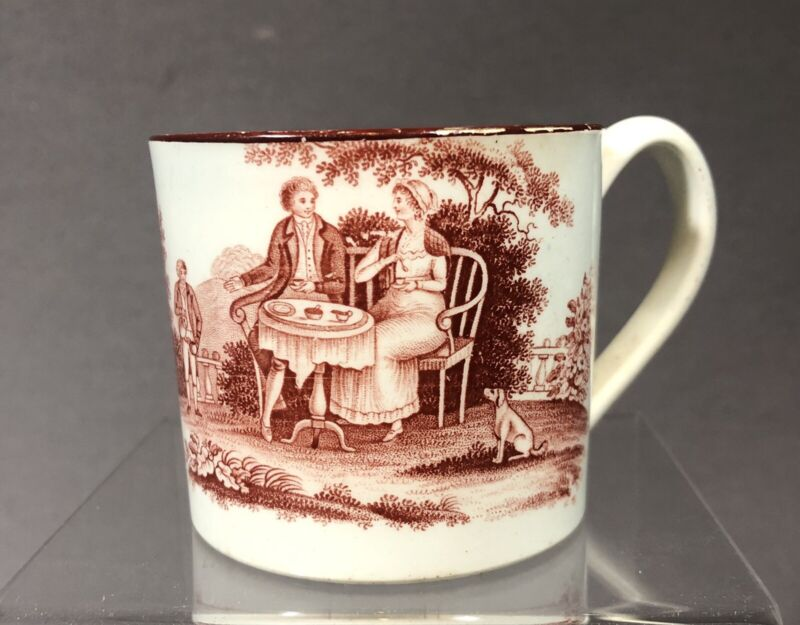 Rare 19th Century English Pearlware Pottery Childs Cup
