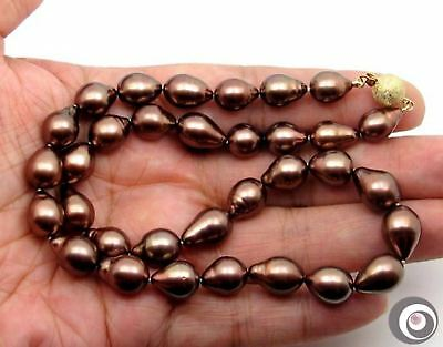 IRRESISTIBLE CHOCOLATE GENUINE TAHITIAN SOUTH SEA PEARL NECKLACE #TN518  ()