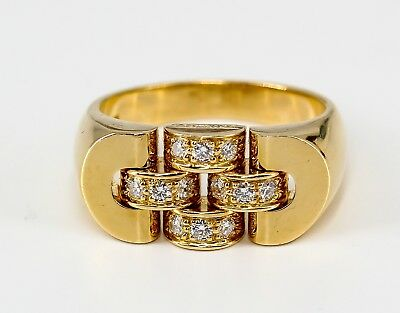 ROLEX Diamond and 18K Yellow Gold Ring