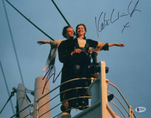 LEONARDO DICAPRIO & KATE WINSLET  SIGNED 'TITANIC' 11X14 PHOTO BECKETT BAS COA
