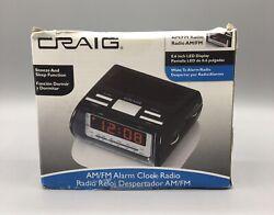Craig Alarm Clock Radio AM/FM Snooze