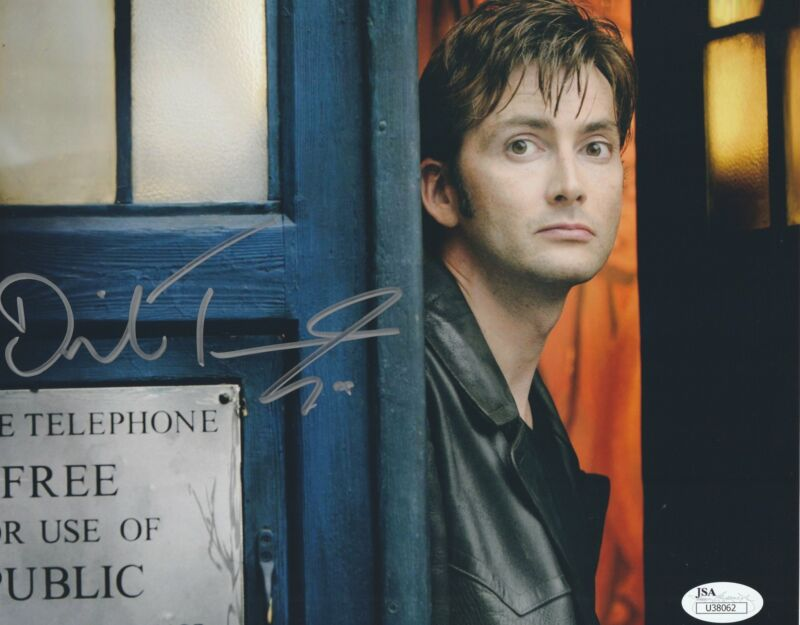 David Tennant Autograph Dr Who 8X10 Photo Tenth Doctor Signed JSA COA