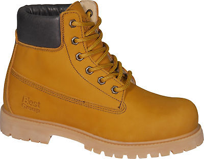 Best Group Gust Walking Boots Tan Brown Waterproof Leather Outdoor Hiking Shoes