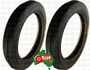 HTS0082 Pair Tractor Front Wheel Tyre 400 x 19 Massey Ferguson TEA20 TE20 TEF20