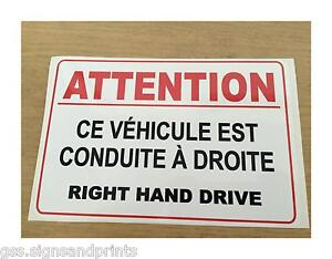 French right hand drive sticker sign camper hgv american for American home choice