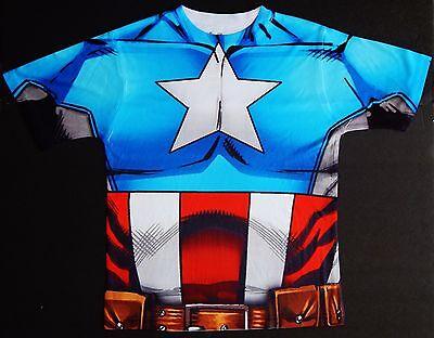 gers 2-sided Sublimated Kostüm T-Shirt Größen 4 - 12 (Captain America Avengers Kostüm 2)