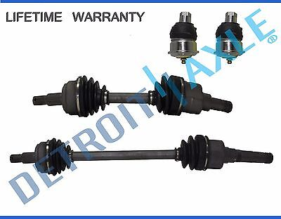 Front Driver AND Passenger CV Axle Drive Shaft + 2 NEW Ball Joint AUTO (Plymouth Neon Cv Joint)