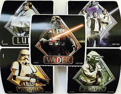 15 Star Wars Classic  Stickers Party Favors Teacher Supply Yoda Darth Vadar #2