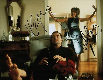 Annette Bening   Kevin Spacey Signed American Beauty 11X14 Photo Coa