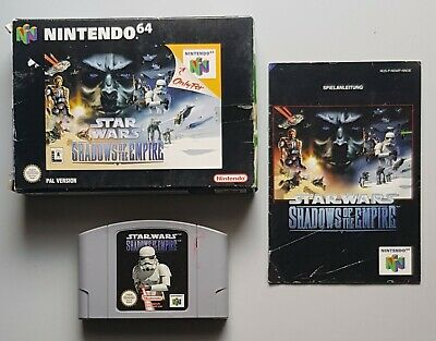 Star Wars - Shadows of the Empire für das N64 mit Verpackung und Anleitung, PAL