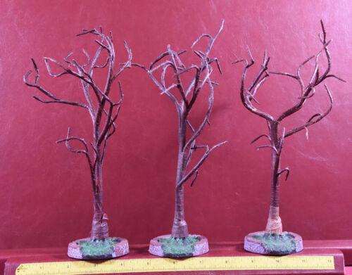 Lemax Spooky Town Haunted Dark Brown Trees 3 pcs Halloween Village Figurines