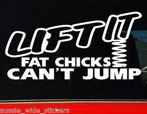 Funny Car 4x4 Stickers LIFT IT For Offroad 4wd Ute with a Lift Kit