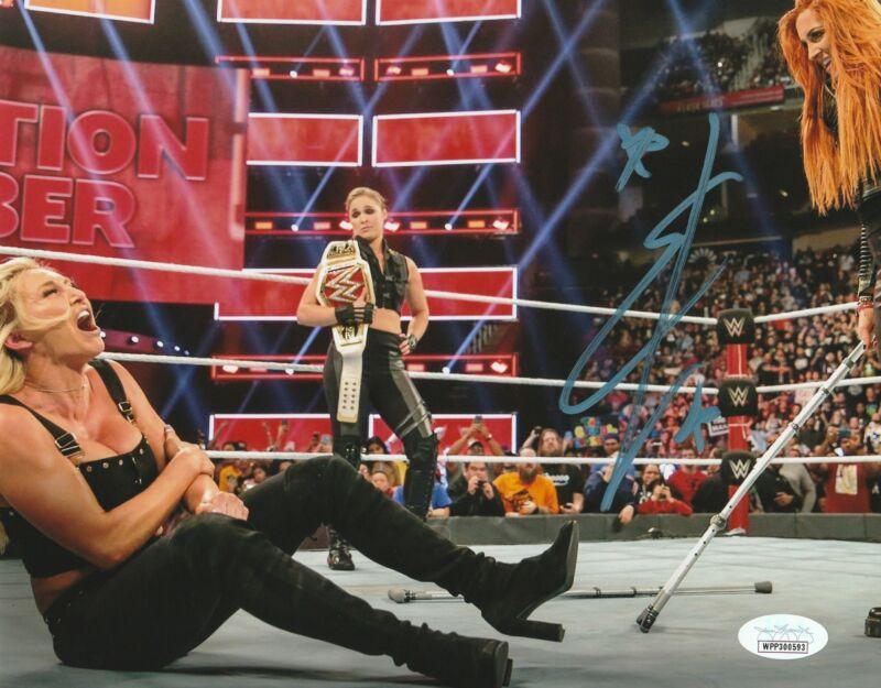 Becky Lynch Autograph WWE Womans Champion 8X10 Photo Signed JSA COA 4