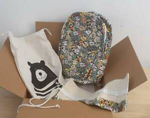 New travel back pack school bag pencil wrap and carry bag