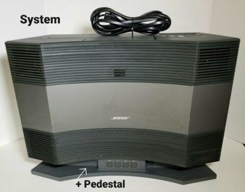 Bose® Acoustic Wave® Music System CD AM/FM Black CD-3000 plus PD-2 AWMS Pedestal