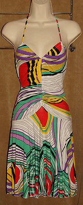 - BUFFALO - David Bitton - Multi Color - Soft RAYON Summer Dress size M *NEW $88*