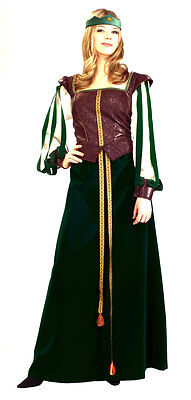 Maid Marion Marian Green Renaissance Princess Dress Up Halloween Adult Costume ()