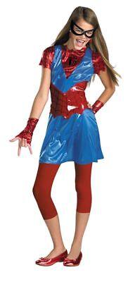 Deluxe Marvel Spiderman Mädchen Rot Blau Teen Halloween Kostüm Größe Junior 3-5