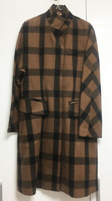[No.21] Numeroventuno Brown Checkered Wool Trench Coat with Belt / New with Tag