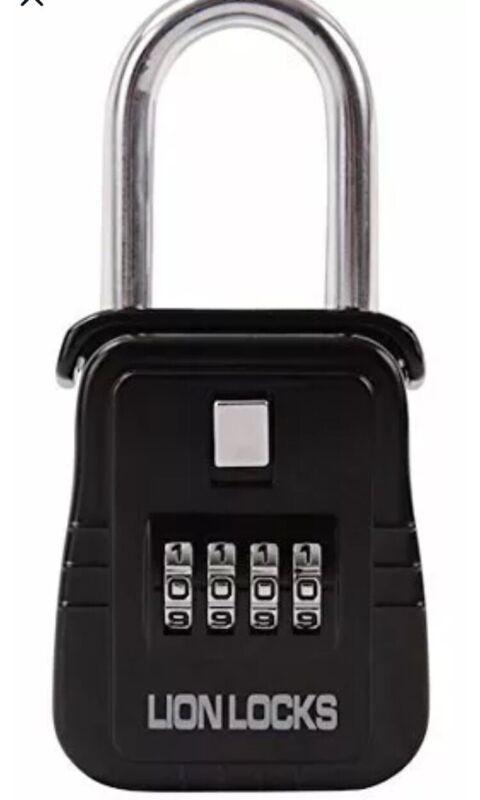Lion Locks 1500 Black Key Storage Lock Box with Set Your Own Combination NEW