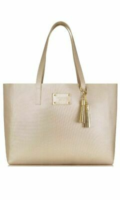 MICHAEL KORS Glam Gold Metallic tote bag purse shopper shoulder handbag large
