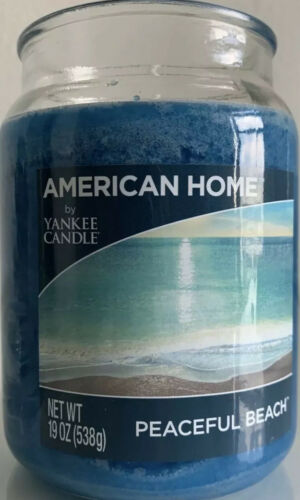 American Home By Yankee Candle Peaceful Beach 19oz Single Wick Jar WithTag - $19.99