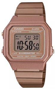 New Casio Rose Gold Retro Digital Illuminator Unisex Watch B650wc-5A