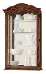Howard Miller 685-102 (685102) Vancouver II Curio Cabinet - Yorkshire Oak