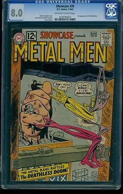 Showcase 39 CGC 8.0 OW/W Silver Age Key DC Comic 3rd Metal Men Appearance L@@K!