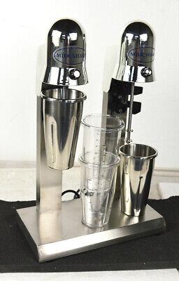 Milkshake Maker Double Head Milk Shake Mixer Machine Stainless Steel W4 Cups Us