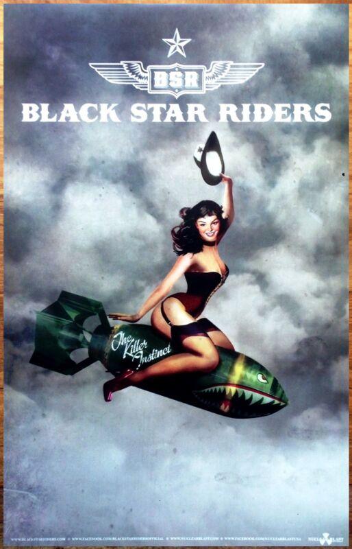 BLACK STAR RIDERS Killer Instinct Ltd Ed New RARE Tour Poster Display THIN LIZZY