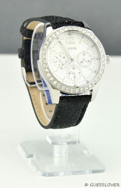 Brand New GuEsS Rare Collections Watch Ladies Black Leather Women Genuine