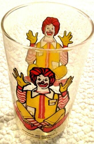 Vtg RONALD MCDONALD COLLECTOR SERIES DRINKING GLASS 6 inch 1970