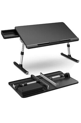 Klearlook Laptop Desk with Storage Drawer,Foldable Legs Brand New