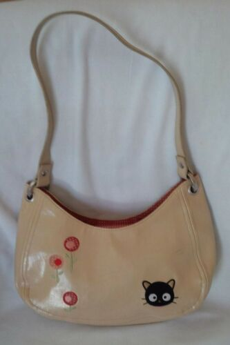 SANRIO 2004 CHOCOCAT Faux Leather Embroidered Shoulder Bag Purse