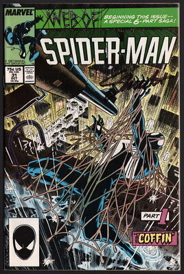 Web of Spider-Man #31 1st Kraven's Last Hunt SIGNED Editor in Chief Jim Shooter