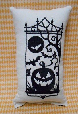 HALLOWEEN JACK-O-LANTERN, Bat Silhouette Shelfsitter, Tuck, Pillow - Halloween Bat Silhouette