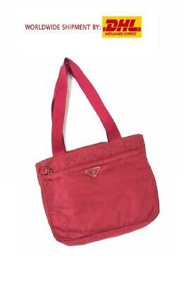 EUC PRADA NYLON SHOULDER BAG RED MADE IN ITALY VINTAGE