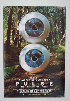 Pink Floyd Double Sided Promo Poster Pulse In Concert Dvd