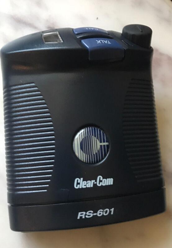 Clear-Com RS-601 Single Channel Beltpack MINT!!