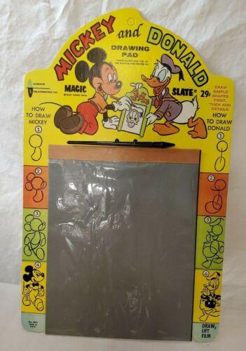 Vintage Disney Mickey and Donald Drawing Pad/Magic Slate - Unused - Nice!!!