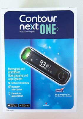 Contour NEXT ONE Set NEU Blutzuckermessgerät Teststreifen Stechhilfe Lanzetten