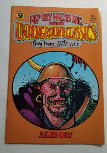 Underground Classics # 9 Greg Irons Early Work vol 2 Rip Off Press Fine