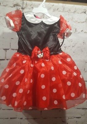 Disney Jr. Minnie Mouse Infant Girl's Costume 2t Toys R US Dress-up Halloween - Toys R Us Infant Halloween Costumes