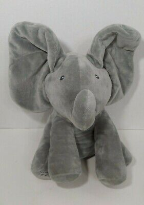 Baby Gund animated plush Flappy the elephant plays peek a boo