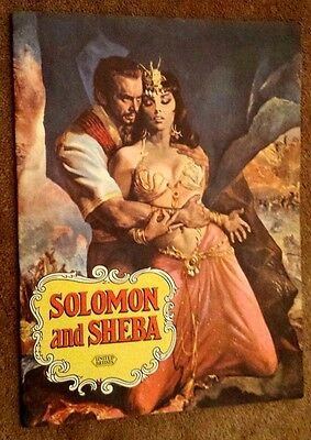 VINTAGE CINEMA PROGRAMME - SOLOMON and SHEBA - YUL BRYNNER GINA LOLLOBRIGIDA