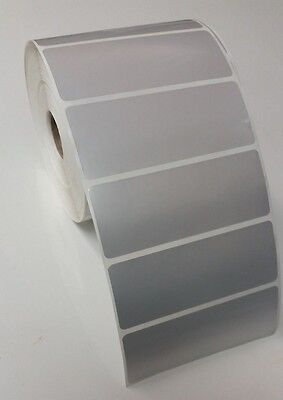 Silver Polyester Thermal Transfer 4 X 1.5 Labels For Zebra 2844gkgx 1 Roll