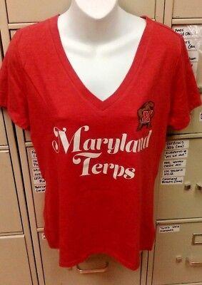 Ncaa Maryland Terrapins Womens T Shirt V Neck 2X Large 2Xl Brand New