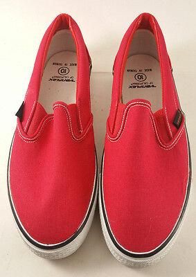 d03615ff644a VARIFLEX Of California Vintage Skateboarding Shoes Mens 10 in RED Slip On  Canvas